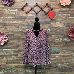 EXPRESS | NWOT Floral Print Portofino Shirt | M